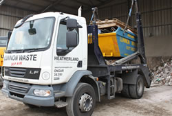 Skip Hire in Romford fully loaded skip